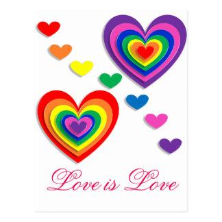 A Rainbow For My Valentine Postcard