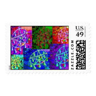 A Rainbow of My Abundance by JudyMarisa Postage Stamps