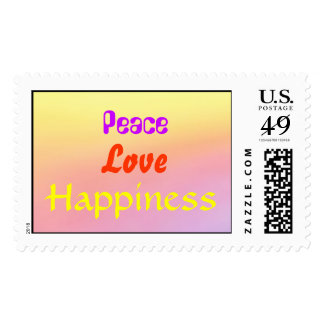 A Rainbow of  Peace, Love and Happiness Stamp