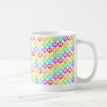 A Rainbow Of Peace Signs Coffee Mug