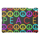 A Rainbow Of Peace Signs W/Text (Horizontal) Case For The iPad Mini