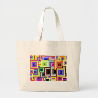 A Rainbow of Squares Large Tote Bag