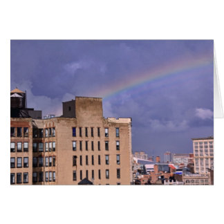 A rainbow over NYC's East River after a storm Greeting Card