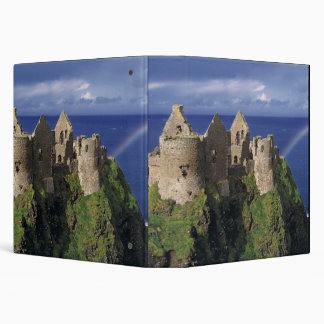 A rainbow strikes medieval Dunluce Castle on Binder