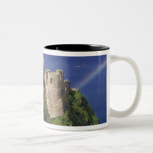 A rainbow strikes medieval Dunluce Castle on Mug