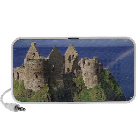 A rainbow strikes medieval Dunluce Castle on Portable Speaker