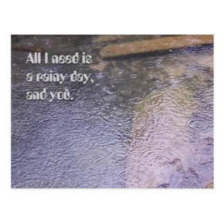 A Rainy Day, and You Post Card