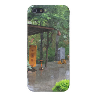 A rainy road in a Chinese folk culture park. Case For iPhone SE/5/5s