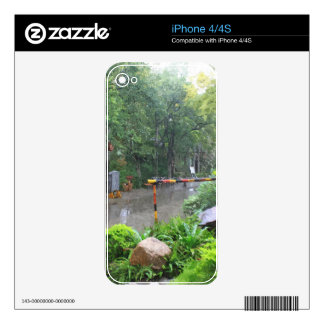 A rainy road in a Chinese folk culture park. Decals For iPhone 4