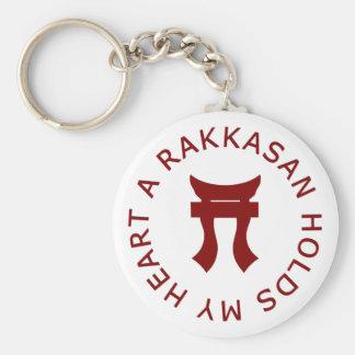 A RAKKASAN Holds My Heart Basic Round Button Keychain