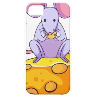 A rat eating above the big slice of cheese iPhone 5 cases