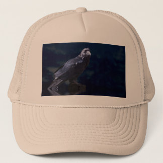 A raven into the moonlight trucker hat
