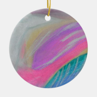 A raven's wing as bright as tin christmas ornaments