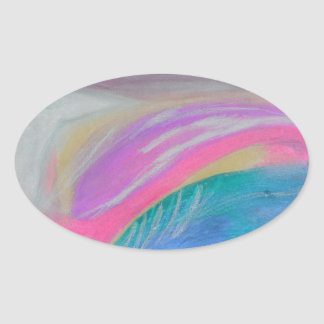 A raven's wing as bright as tin oval sticker
