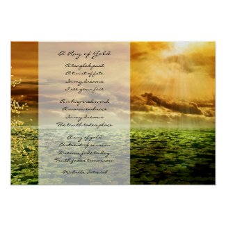 A Ray of Gold ~ Dreams of Love Poem Poster