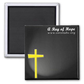A Ray of Hope 2 Inch Square Magnet