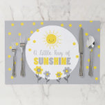 """A Ray of Sunshine Baby Shower Placemat Summer Sun<br><div class=""""desc"""">♥ A great addition to your party! A Little Ray of Sunshine Baby Shower Theme for a gender neutral shower.</div>"""