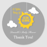 A Ray of Sunshine Baby Shower Sticker