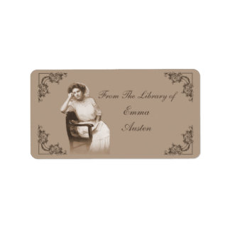 """""""A Reader"""" Vintage Photo Library Labels"""