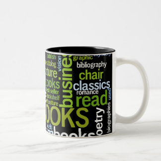 A Reader's Coffee Cup Two-Tone Coffee Mug