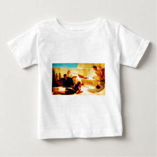 A Reading from Homer  by Sir Lawrence Alma Tadema Baby T-Shirt