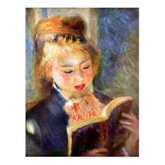 A reading girl1 by Pierre Renoir Postcard