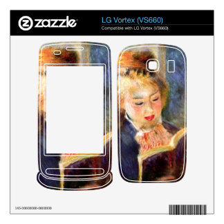 A reading girl1 by Pierre Renoir Skins For LG Vortex