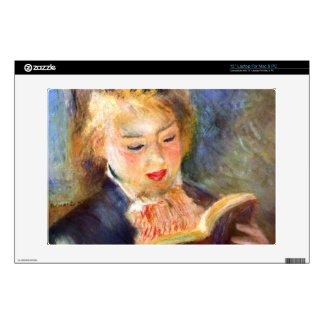 A reading girl1 by Pierre Renoir Decal For Laptop