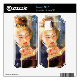 A reading girl1 by Pierre Renoir Decals For The Nokia N97