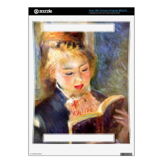 A reading girl1 by Pierre Renoir Xbox 360 Console Skin