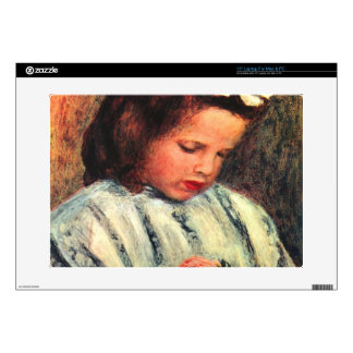 A reading girl by Pierre Renoir Laptop Decals