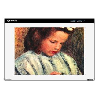 A reading girl by Pierre Renoir Laptop Skins
