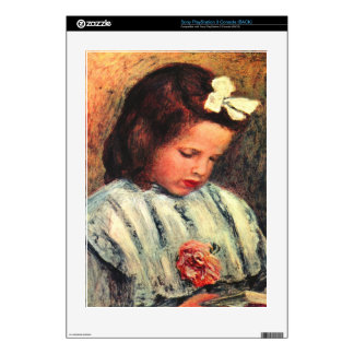A reading girl by Pierre Renoir Skins For PS3 Console