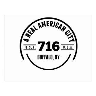 A Real American City Buffalo NY Postcard