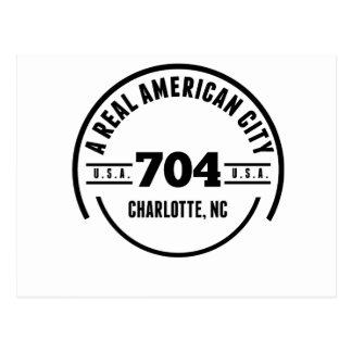 A Real American City Charlotte NC Postcard