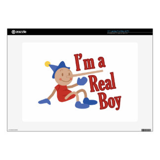 """A Real Boy! 15"""" Laptop Decal"""