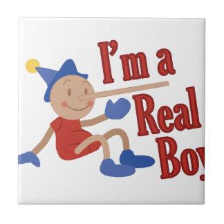 A Real Boy! Ceramic Tile