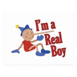 A Real Boy! Postcard