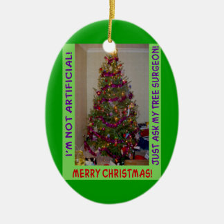 A Real Christmas Tree Ceramic Ornament