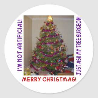 A Real Christmas Tree Classic Round Sticker