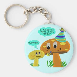 A Real Fun-Guy Mushroom Cartoon Keychain