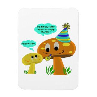 A Real Fun-Guy Mushroom Cartoon Magnet