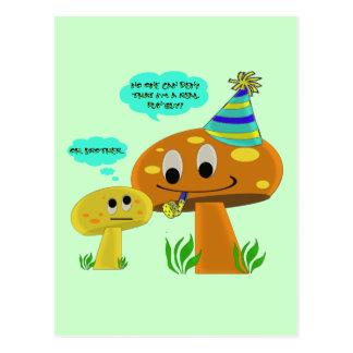 A Real Fun-Guy Mushroom Cartoon Postcard