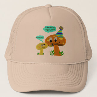 A Real Fun-Guy Mushroom Cartoon Trucker Hat