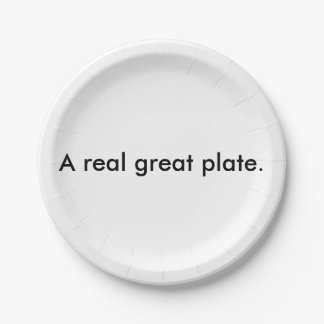 A real great plate