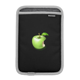 A real green apple on iPad sleeve