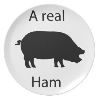 A real ham plate