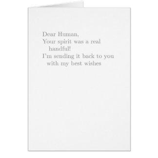 """a real handful"" card"