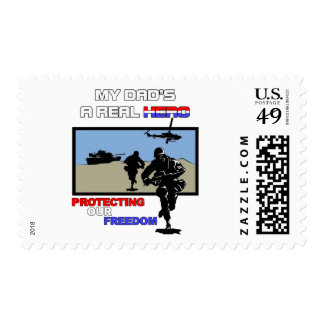 A Real Hero - Military Postage Stamp