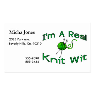 A Real Knit Wit Business Cards